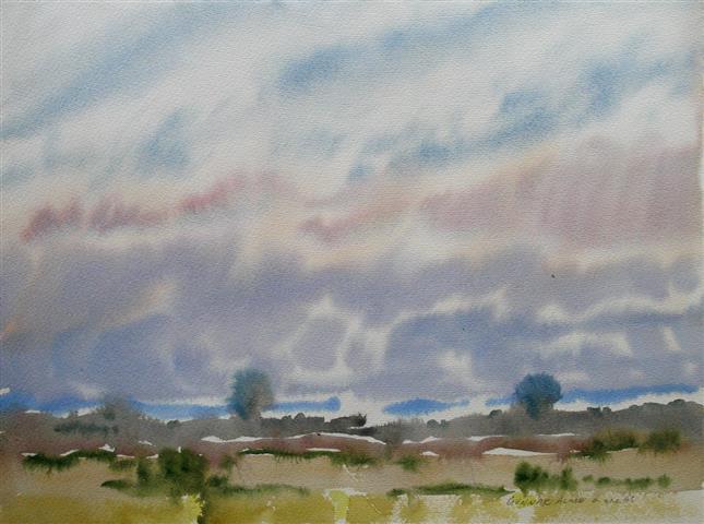 Landskap 26 Akvarell (36x48 cm) kr 3000 ur