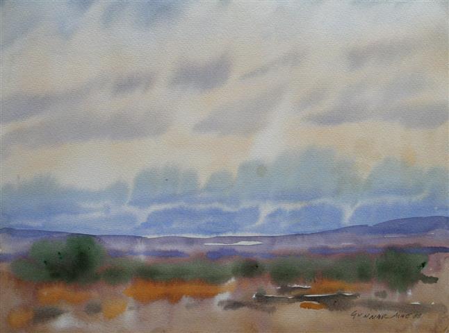Landskap 27 Akvarell (36x48 cm) kr 3000 ur