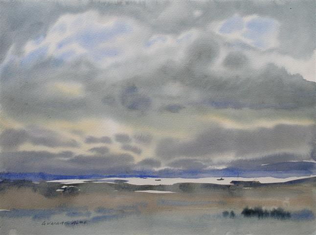 Landskap 31 Akvarell (36x48 cm) kr 3000 ur