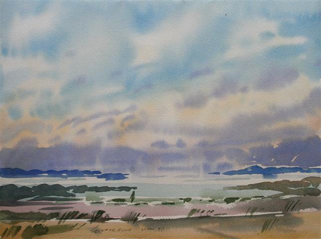 Landskap 33 Akvarell (36x48 cm) kr 3000 ur