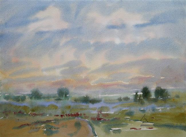 Landskap 34 Akvarell (36x48 cm) kr 3000 ur