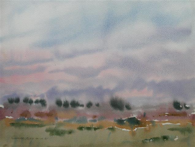 Landskap 36 Akvarell (36x48 cm) kr 3000 ur