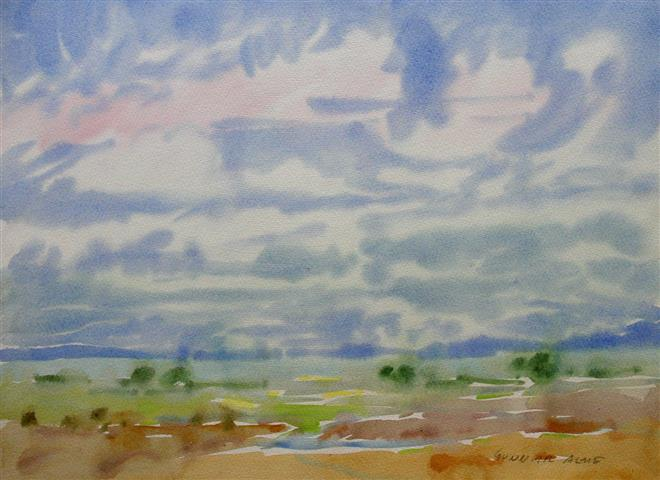 Landskap 39 Akvarell (30x40 cm) kr 2000 ur