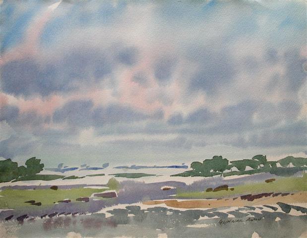 Landskap 4 Akvarell (36x48 cm) kr 3000 ur