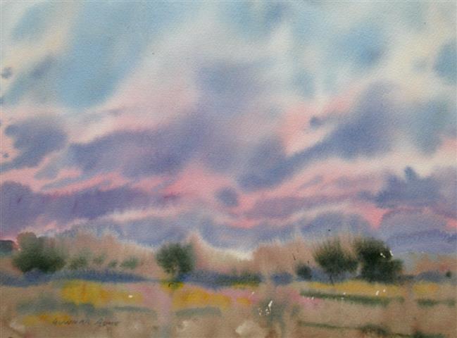 Landskap 41 Akvarell (30x40 cm) kr 2000 ur