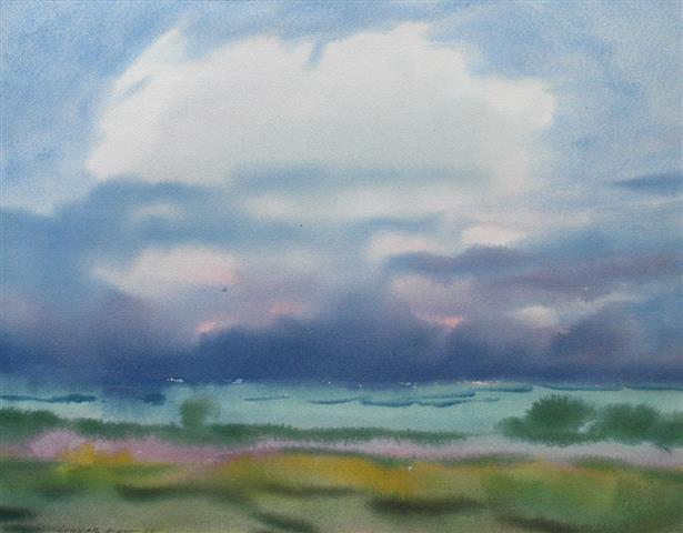 Landskap 46 Akvarell (44,5x58 cm) kr 4000 ur