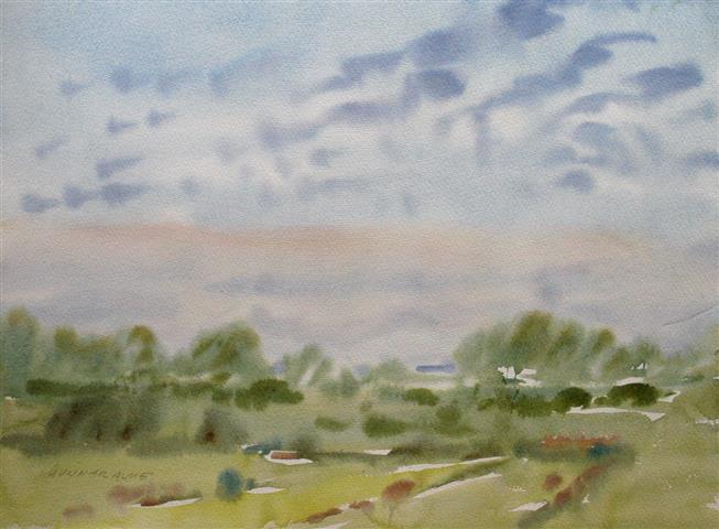 Landskap 9 Akvarell (36x48 cm) kr 3000 ur