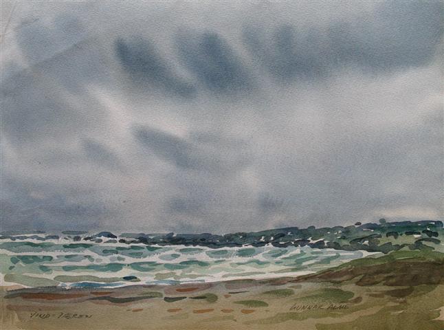 Vind-Jæren Akvarell (36x48 cm) kr 3000 ur