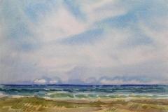 Fra Sola Akvarell 30x40 cm 2000,-kr u.r.