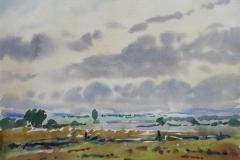 Høstlig Jæren Akvarell (36x48 cm) kr 3000