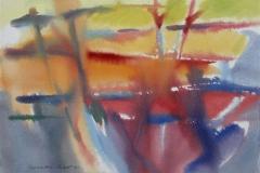 Komposisjon 10 Akvarell 36x48 cm 3000,-kr u.r.