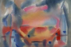 Komposisjon 3 Akvarell 36x48 cm 3000,-kr u.r.