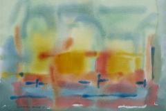 Komposisjon 6 Akvarell 36x48 cm 3000,-kr u.r.
