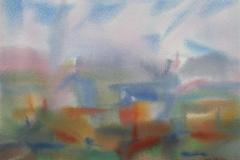 Komposisjon 8 Akvarell 36x48 cm 3000,-kr u.r.