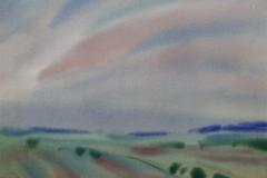 Komposisjon 9 Akvarell 36x48 cm 3000,-kr u.r.