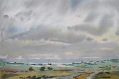 Landskap 2 Akvarell 36x48 cm 3000,-kr u.r.