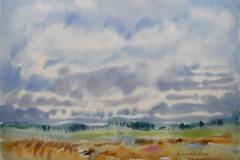 Landskap 3 Akvarell (36x48 cm) kr 3000 ur