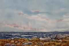 Ved Hafrsfjord Akvarell (36x48 cm) kr 3000 ur