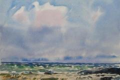 Ved havet Akvarell (30x40 cm) kr 2000 ur