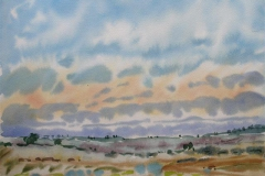 Landskap 5 Akvarell (36x48 cm) kr 3000 ur