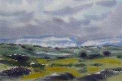 Mot Hardangervidda Akvarell (22x29 cm) kr 1000 ur