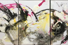 White winter Akrylmaleri (90x180 cm) kr 12000 ur