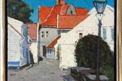 Fra Gamle Stavanger V Akrylmaleri (30x24 cm) kr 2500 mr