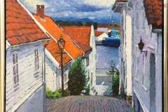 Gamle Stavanger Akrylmaleri (40x50 cm) kr 4500 mr