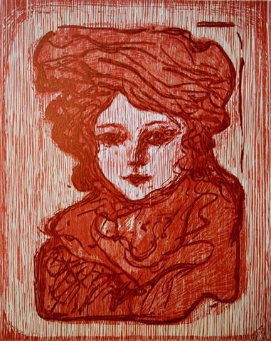 Nora Tresnitt 50x40cm 1800,-kr u.r.