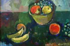 Fruktbolle Oljemaleri 50x70cm 15000,-kr m.r.