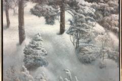 Vinterskog Oljemaleri (61x80 cm) kr 12000 mr