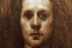 Selvportrett Litografi 28,5x22 cm 2100 ur