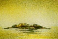 Droem (holme) Litografi 12x34cm 1000,-kr u.r.
