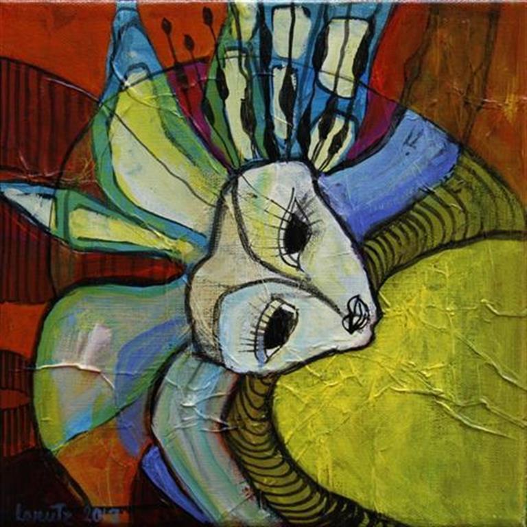 Koralhavsgemmer II Akrylmaleri 25x25 cm 2000 ur