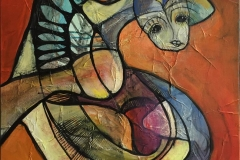 I Rampelyset 1 Akrylmaleri ( 50x50 cm) kr 4200 ur