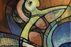 Rotation III Akrylmaleri (50x50) kr 4200 ur