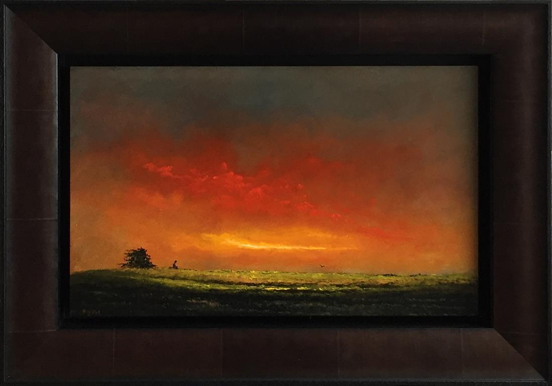 Rød meditasjon. Oljemaleri (25x40 cm) kr 16000 mr