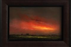 Åpen rødme. Oljemaleri (25x40 cm) kr 14000 mr