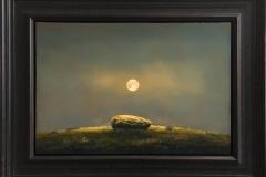 Måne og sten. Oljemaleri (40x58 cm) kr 35000 mr