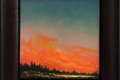 Røde. Oljemaleri (25x25 cm) kr 11000 mr