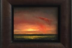 Rødt regn. Oljemaleri (17x23 cm) kr 8000 mr