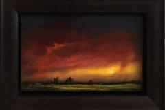 Varm aften. Oljemaleri (25x40 cm) kr 14000 mr