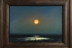 Varm måne. Oljemaleri (40x58 cm) kr 35000 mr