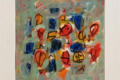 Komposisjon I Akrylmaleri (40x40 cm) kr 3800 ur
