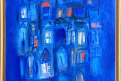 La ville bleu IV Oljemaleri (81x65 cm) kr 15000 mr