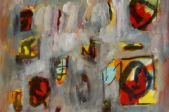 Musikalsk variasjon Akrylmaleri 38x38 cm 4500 mr