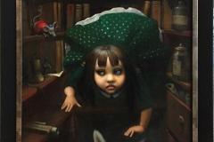 Begynnelsen (Alice in Wonderland) Oljemaleri (60x50 cm) kr 18000 mr