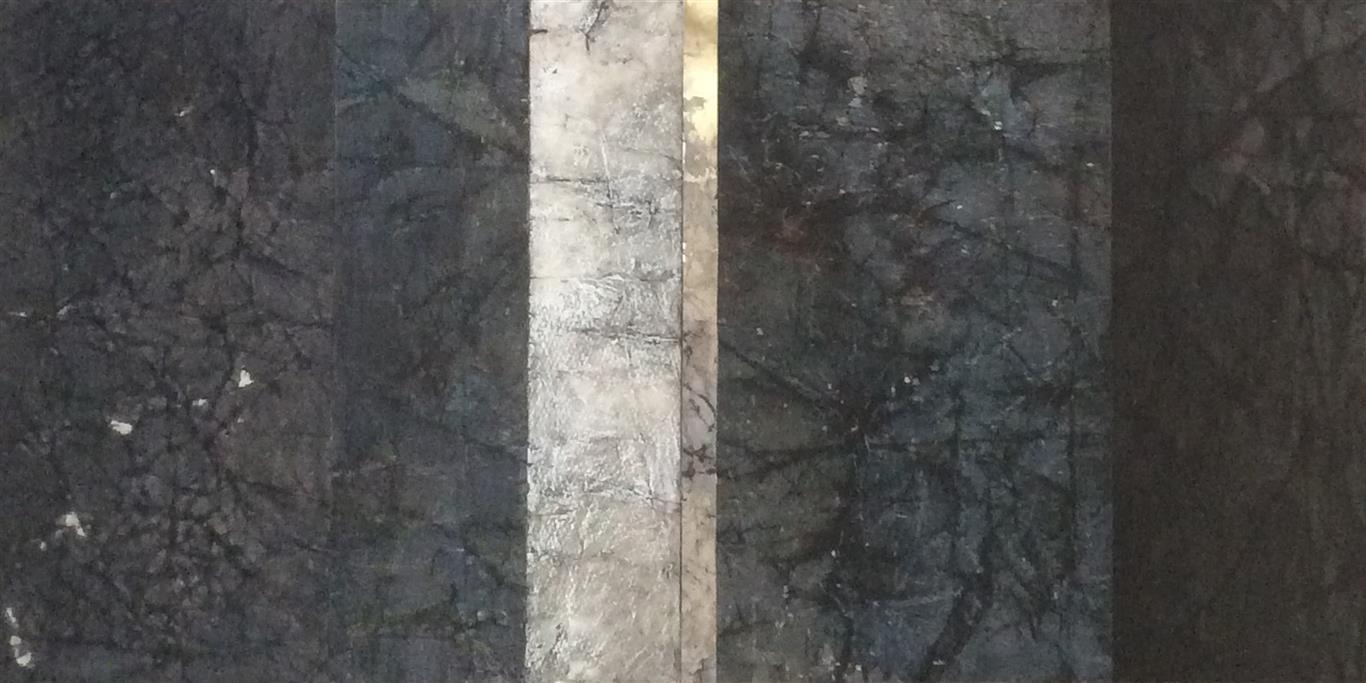 Gull stripe Collage (32x64 cm) kr 5000 ur