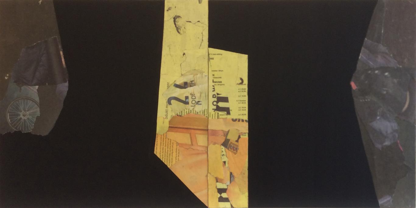 Gult senter Collage (40x80 cm) kr 9000 ur