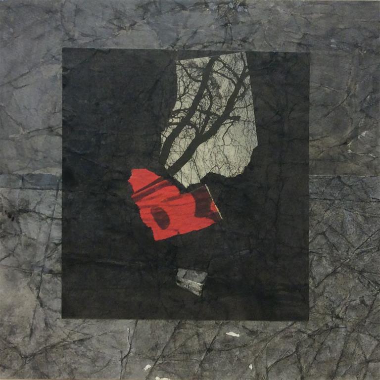 Sort komposisjon Collage (30x30 cm) kr 4000 ur
